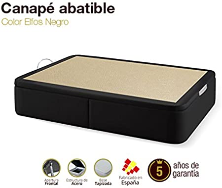 Naturconfort Canapé Abatible Tapizado Ecopel Negro 150x190cm Envio y Montaje Gratis: Amazon.es: Hogar