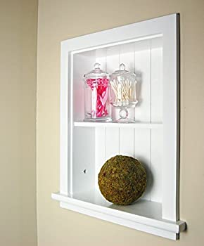 White Recessed Wall Niche by Fox Hollow Furnishings (14x18), also available in Dark Brown