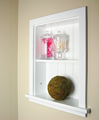 White Recessed Wall Niche by Fox Hollow Furnishings (14x18), also available in Dark Brown (Recessed Wall Cabinets)
