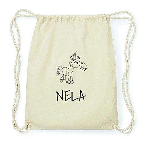 JOllipets NELA Hipster Turnbeutel Tasche Rucksack aus Baumwolle Design: Pferd
