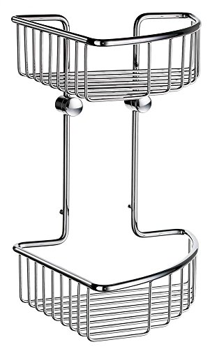 Smedbo SME DK1022 Soap Basket Corner 2 Level, Polished Chrome, - Soap Dish Smedbo