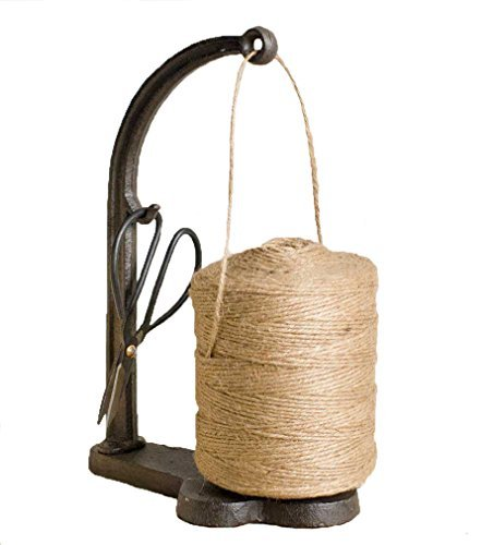 Vintage Style Cast Iron Twine and Shears Set ()