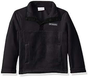 Columbia Kids' Big Steens MTN1/4 Snap Fleece Pull-Over, Black, XX-Small