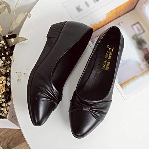 Mocasines Single Para Black Plataforma Slip Zapatos Uso on Diario Y Mujer Casual Oficina Loafer Shoes Flat De rfancWya