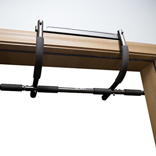 Door Gym HiHill Doorway Pull Up Bar Portable Tough Steel Construction Train Upper Body and Core Work Out at Home(IRG 01)