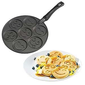 Nordic Ware 01920 - Sartén para tortitas y crepes, diseño Smiley