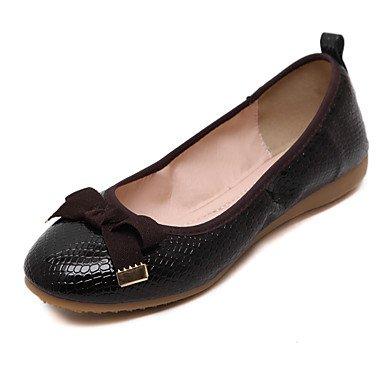 Cómodo y elegante soporte de zapatos de mujer Flats punta redonda/cerrado en los dedos de primavera/verano/otoño/Flats Casual soporte de talón con lazo y caminar rosa