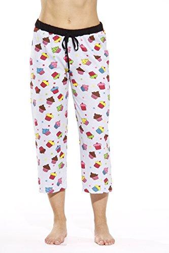 Capri Pajama Bottoms - Just Love 6331-10008-1X Women Pajama Capri Pants Sleepwear