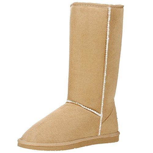 Snow Camel Boots Calf Mid Classic Fur Tall Women's Winter wnCX7O8xWq