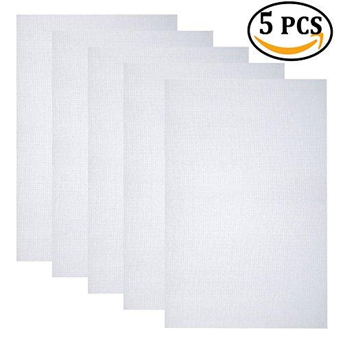 [해외]5 조각 클래식 예약 아이다 천 크로스 스티치 천을 18 인치, 화이트, 14 카운트로/5 Pieces Classic Reserve Aida Cloth Cross Stitch Cloth, 12 by 18-Inch, White, 14 Count