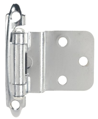 Hardware House 64-2512 3/8-Inch Inset Mount Cabinet Hinge, 2-Pack, Chrome