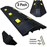 Electriduct Ultra Light Weight Economy Speed Bump - Black - 3 Pieces (9 Feet) - Concrete