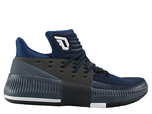 Adidas D Lillard 3–Chaussures de Basketball pour Homme, Bleu–(azumis/negbas/Ftwbla) 471/3