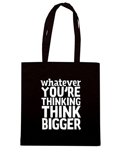 T-Shirtshock - Bolsa para la compra CIT0228 Think Bigger Negro