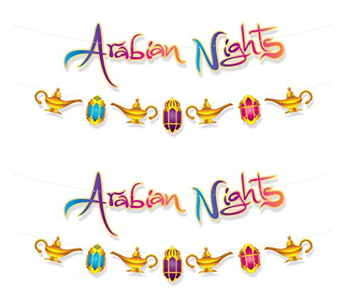 Beistle 53582 Arabian Nights Streamer Set, 2 Piece, 12.75