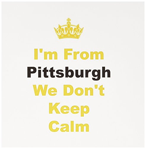 (3dRose Don't Keep Calm Pittsburgh Yellow and Black Letters on White Background Greeting Cards, Set of 6 (gc_180044_1))