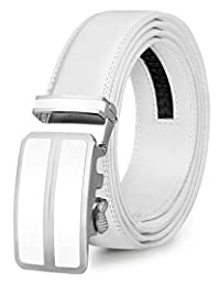ITIEZY Leather Ratchet Dress Belt for Men, Colorful Click Belt with Automatic Buckle in Gift Box