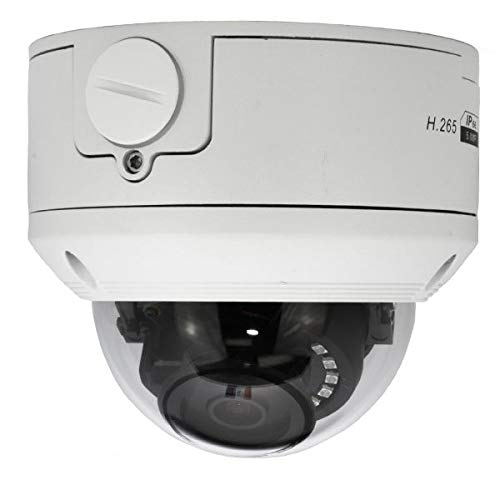 5MP Vandal Dome IP POE Security Camera W/ 2.8mm Lens IP66 Weatherproof 100′ Night Vision Built in Junction Box POE Onvif