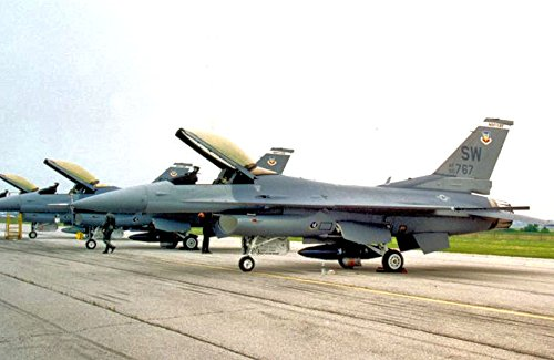 - Home Comforts Row of 17th Fighter Squadron at Shaw AFB, SC, 1986General Dynamics F-16A Block 15G Fighting Falco