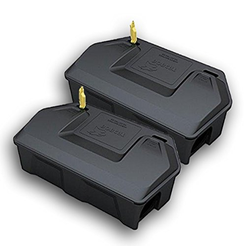 Rat Bait Station 2 Pack - Rodent Bait Station with Key Eliminates Rats and Mice Fast. Keeps Children and Pets Safe 2 Pack