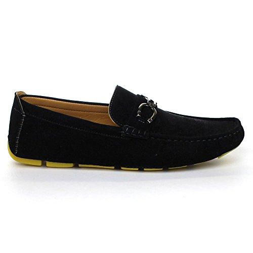 Arider Bruce-02 Heren Mocassin-stijl Instapper Loafer Schoenen Geel / Zwart