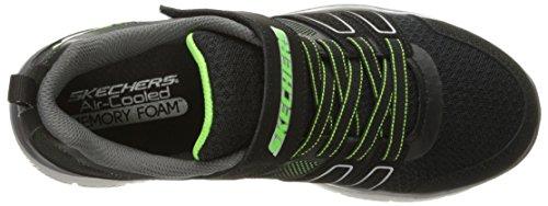 Skechers Flex Advantage 2.0-High Torque, Zapatillas Para Niños Negro (Black/lime)
