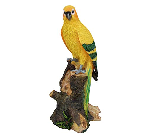 TABOR TOOLS Parrot Statue Ornament, Decorative Tropical Bird, Terrace Figurine, Miniature Statue, Outdoor Decor, Cute Patio Figure, Sculpture for Your Garden, Home or Office. DM404A. (Parrot) ()