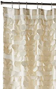 Triangle Home Fashions 16685 Lush Decor Gigi Shower Curtain, Ivory