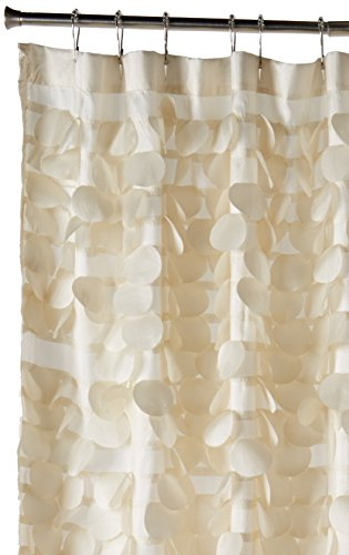 Lush Decor Triangle Home Fashions 16685 Gigi Shower Curtain, Ivory