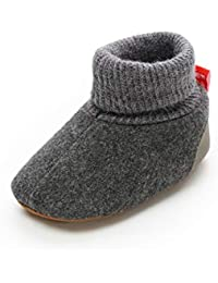 Baby Boys Girls Fleece Booties Non-Slip Bottom Warm Winter Socks Slippers Infant Crib First Walker Shoes