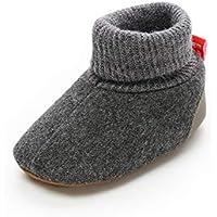Sakuracan Baby Boys Girls Cozy Fleece Booties with Non Skid Bottom Infant Shoes Winter Socks