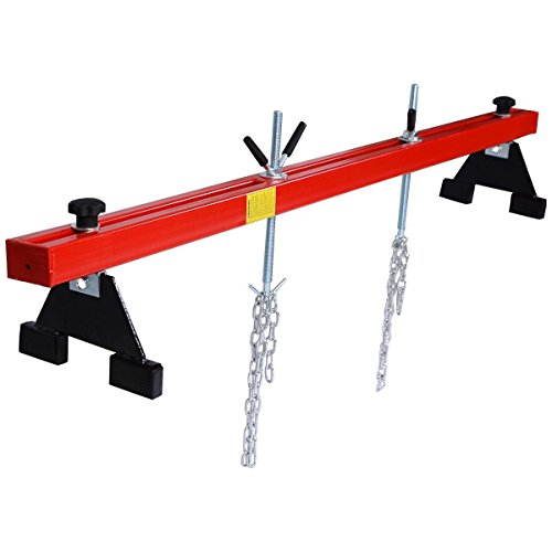 Goplus 1100lbs Engine Support Bar Transverse for Motor Tranny Transmission w/ 2 Points Lift Holder Hoist Dual Hooks