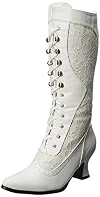 Ellie Shoes Rebecca Adult Boots White 7