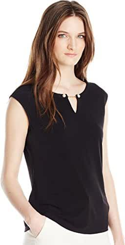 Calvin Klein Women's Sleeveless Top with Pearl Detail
