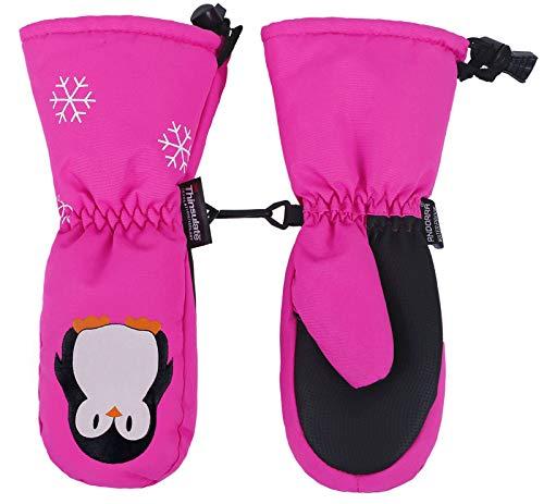 Halconia Kids Boys Girls Animal/Solid Thinsulate Insulation Waterproof Ski Mittens