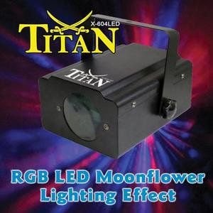 (Xstatic Titan RGB LED Moonflower Lighting Effect)