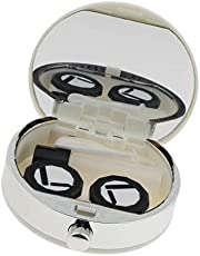 LoveinDIY Outdoor Travel Cute Plastic Contact Lenses Storage Case - White, as described