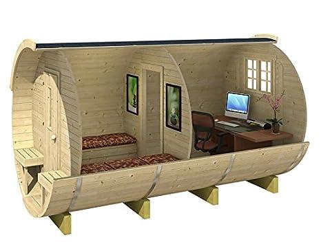 Ufficio In Legno Da Giardino : Casetta di legno con ufficio 215 x 330 cm 28 mm da giardino