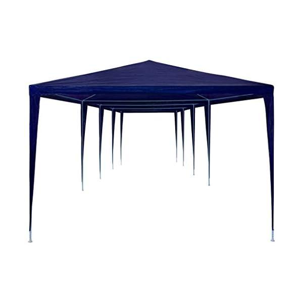 UnfadeMemory Tendone per Feste in PE Impermeabile Gazebo da Giardino 3x12 m Blu 2 spesavip