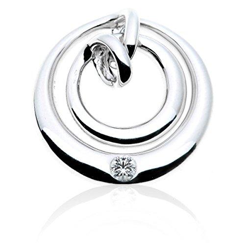 TOGETHER - Pendentif Diamant - Or 18 carat - Poids du diamant: 0.12 carat - www.diamants-perles.com