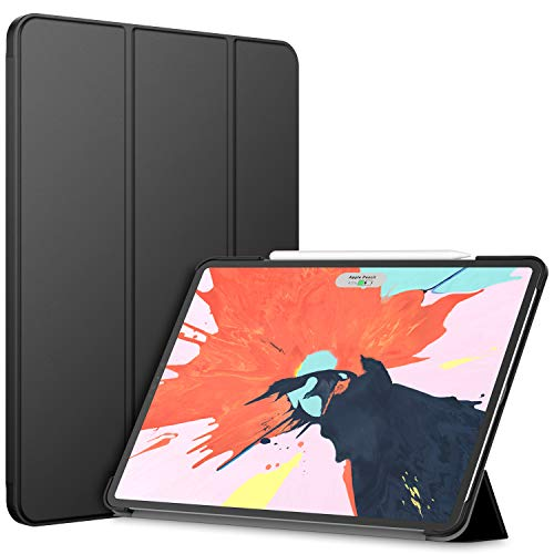 (JETech Case for iPad Pro 12.9-Inch (3rd Generation 2018 Model, Edge to Edge Liquid Retina Display), Compatible with Apple Pencil, Cover Auto Wake/Sleep,)