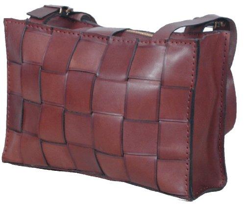 Handmade Hand Stitched Thick Genuine Leather messanger Handbag Bag-1
