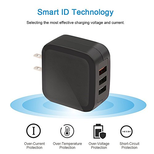 Tj8 Quick Charge 3 0 Usb Wall Charger 30w 3 Port Universal