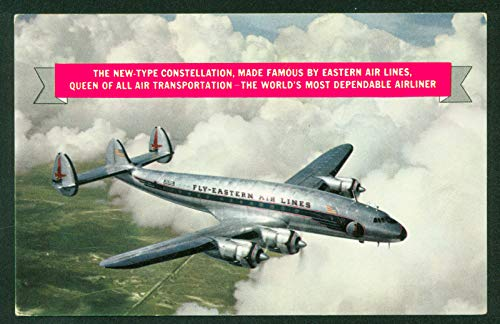 Postcard Fly Eastern Airlines Constellation Type Airline