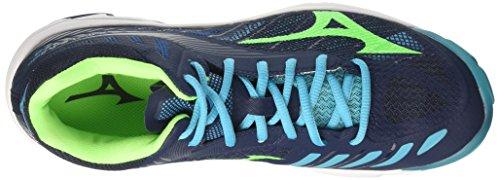 Recomendar para la venta Hombres Mizuno Wave Rayo Z4 Zapatos Mediados De Funcionamiento Multicolor (uniforme Azul / Verde Del Gecko / Peacockblue 36) Buscando barato GZMmSQ2Ym