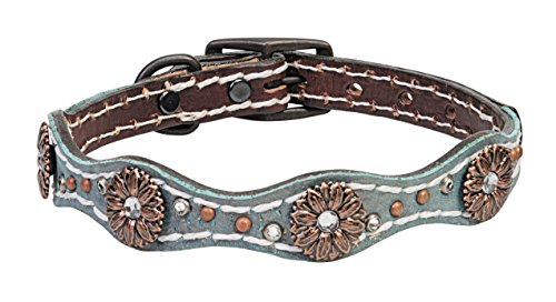 Weaver Pet Savannah Dog Collar (Crystal Leather Weaver)