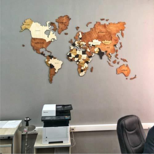 Amazon.com: World Map Wood World Map World Map Wall Art Wood ...
