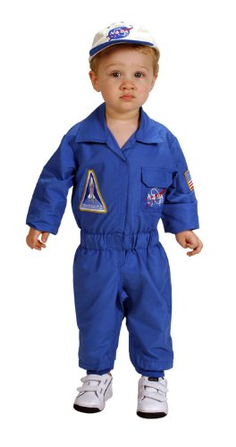 Winning Group Costumes (Aeromax Jr. NASA Flight Suit, Blue, with Embroidered Cap and offical looking patches)