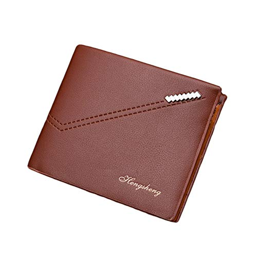 Men RFID Anti-theft Wallet, Short Bifold Male Purse, Card Cash -
