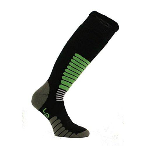 Eurosock Euro Sock New Ski Zone Medium Weight Sock Black Mint Model #1112 - Large/Black Mint